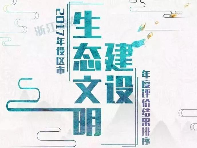 浙江生态文明建设年度评价出炉 宁波绿色生活指数排第2