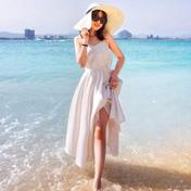 蓝天白云海洋沙滩