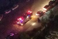 小区频繁停电引来消防车