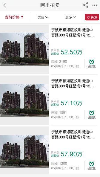 惊!总价50万,就能在宁波买房? 法拍房或将成为宁波房价最后的洼地