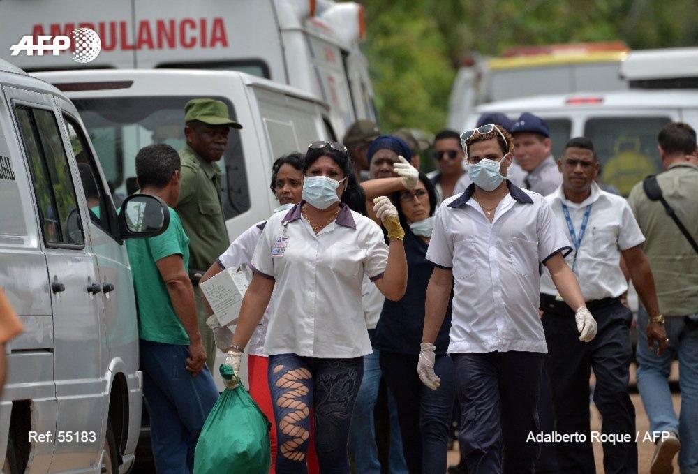 古巴一架载有114人的波音客机坠毁 百余人遇难