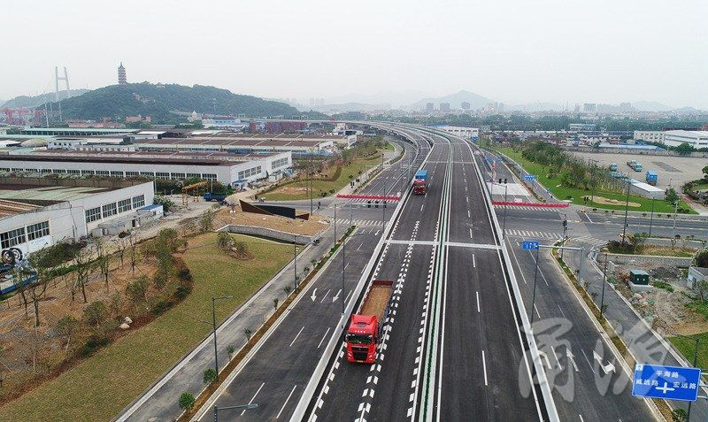 招宝山大桥连接线通车试运行 往返镇海北仑更方便了
