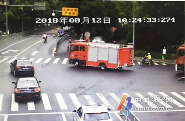 """拒不给消防车让行?宁波这辆私家车""""摊上事""""了"""