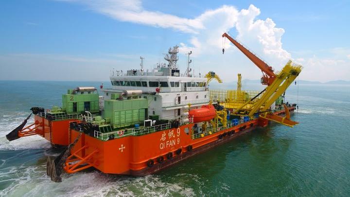 大国重器!全国首制5000吨级海缆施工船舟山首航
