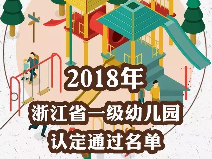 宁波7所幼儿园认定为浙江省一级幼儿园!有你家门口的吗?