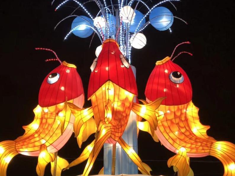 镇海元宵灯会。小时候看灯会好漂亮,现被商业广场碾压