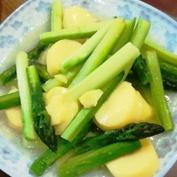 芦笋炒日本豆腐