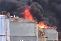北仑一化工厂油罐起火