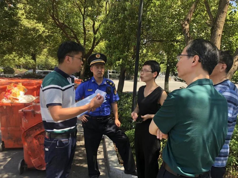 江北莊橋街道開出首張生活垃圾分類整改通知書