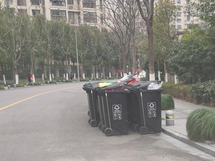 这是小区垃圾桶吗?放在外面道路合适吗?