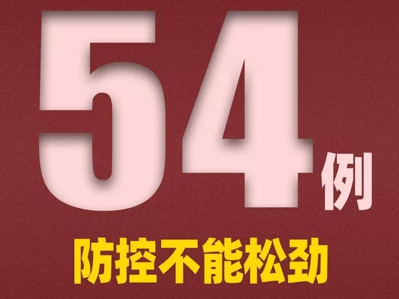 新增确诊54例均为境外输入!其中上海17例,浙江4例