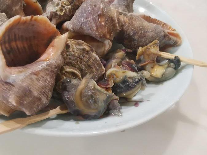 50几元买来恶臭海螺,海曙欧尚还说是活的,呵呵