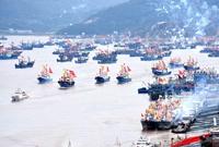 象山开渔节,千舟竞发