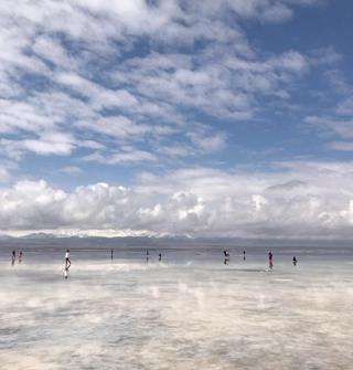 宁波飞兰州,转青海茶卡盐湖,海拔3600