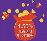 人气理财-随心定,预期收益率最高可达4.55%!