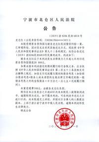 史志红民事判决书送达公告